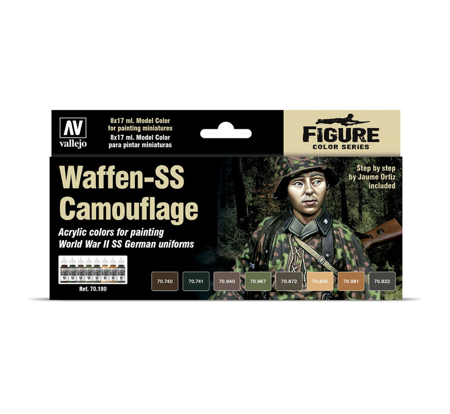 Model Color Waffen-SS Camouflage - 8 kleuren - 17ml - 70180