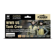Vallejo Model Color WWII US Tank Crew - 8 kleuren - 17ml - 70186