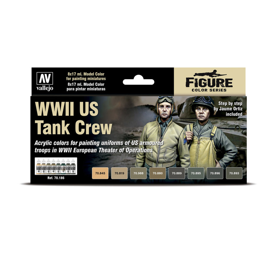 Model Color WWII US Tank Crew - 8 kleuren - 17ml - 70186