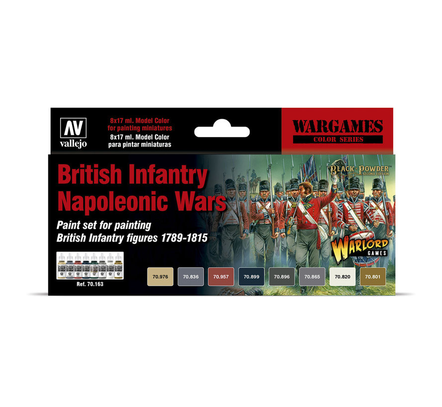 Model Color British Infantry Napoleonic Wars - 8 kleuren - 17ml - 70163