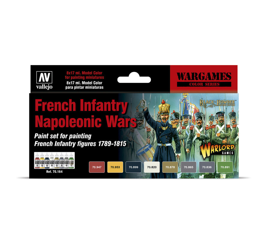 Model Color French Infantry Napoleonic Wars - 8 kleuren - 17ml - 70164