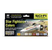 Vallejo Model Air Star Fighters Colors - 8 kleuren - 17ml - 71612