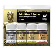 Vallejo Model Color Liquid Gold Set - 4 colors - 35ml - 70199