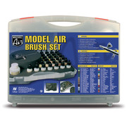 Vallejo Model Air Basic Set + Airbrush - 29 kleuren - 17ml - 71172