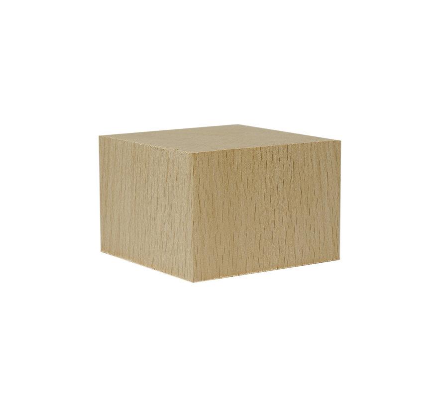 6cm x 6cm x 4cm sokkel - 6x6x4cm-Cube-Raw