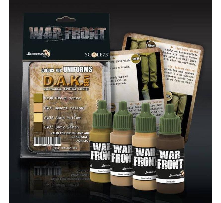 War Front D.A.K. set 1 - 4 kleuren - 17ml - SSE-027