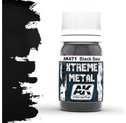 AK interactive Xtreme Metal Black Base - 30ml - AK471