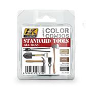 AK interactive Standard Tools All Eras Color Combos - 3 colors - 17ml - AK-4174