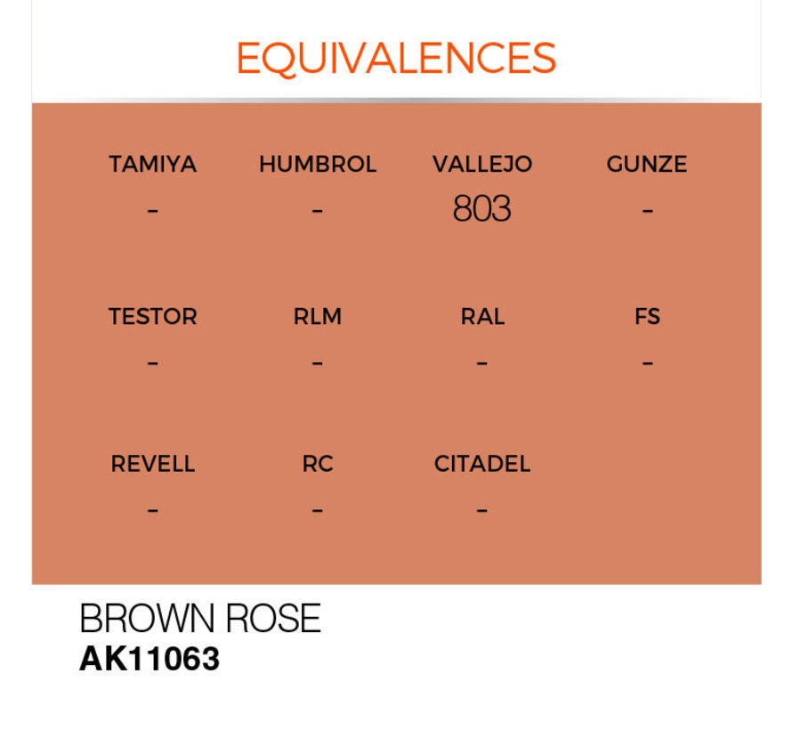Brown Rose Acrylic Modelling Colors - 17ml - AK11063
