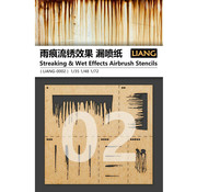 Liang Streaking & Wet Effects Airbrush Stencils - LIANG-0002