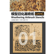 Liang Weathering Airbrush Stencils - LIANG-0001