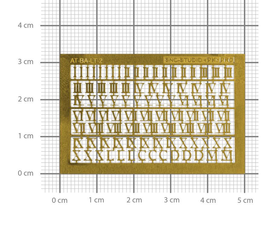 Ätztech Romeinse Cijfers - Photo-Etch - AT-BA-LT-2