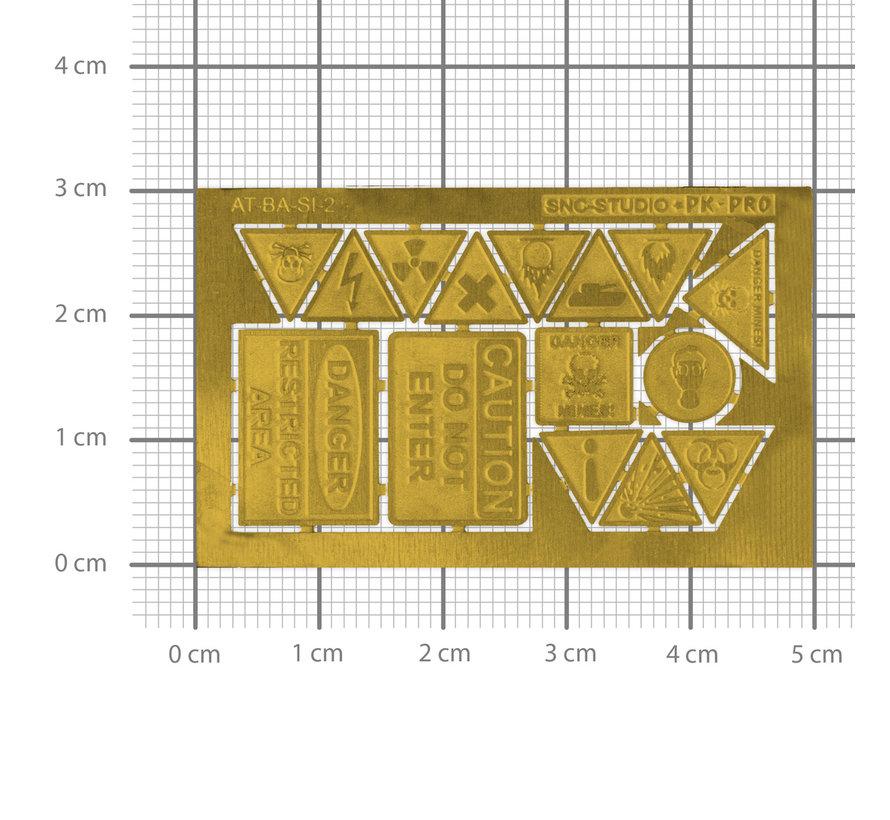 Ätztech Industriële Waarschuwings Borden - Photo-Etch - AT-BA-SI-2