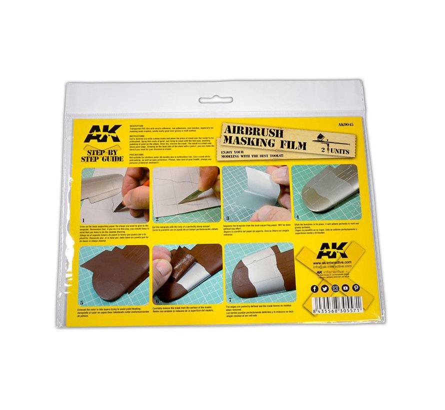 AK interactive Airbrushing Masking Film - 2x A4