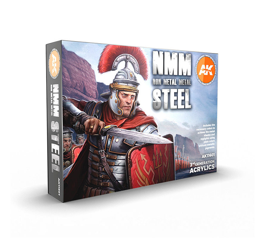 AK interactive Non Metallic Metal: Steel - 6 kleuren - 17ml