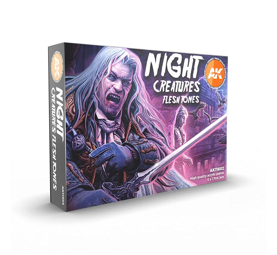 AK interactive Night Creatures Flesh Tones - 6 kleuren - 17ml