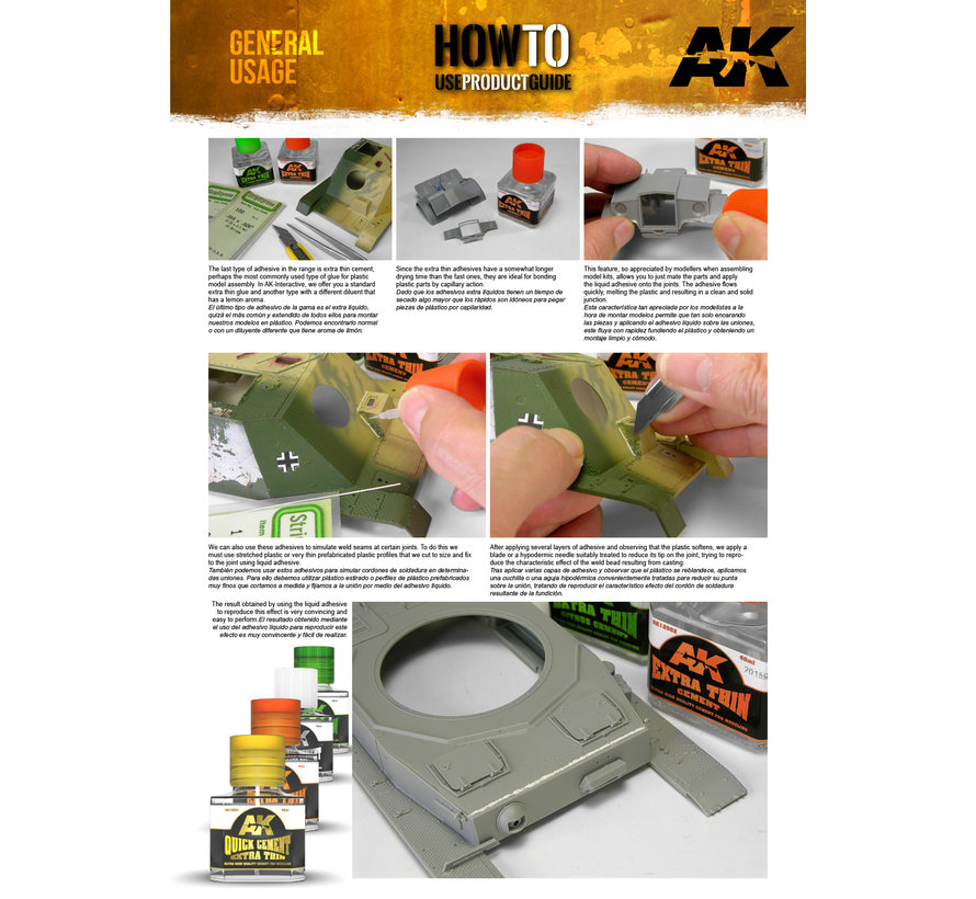 AK interactive Extra Thin Citrus Cement - 40ml