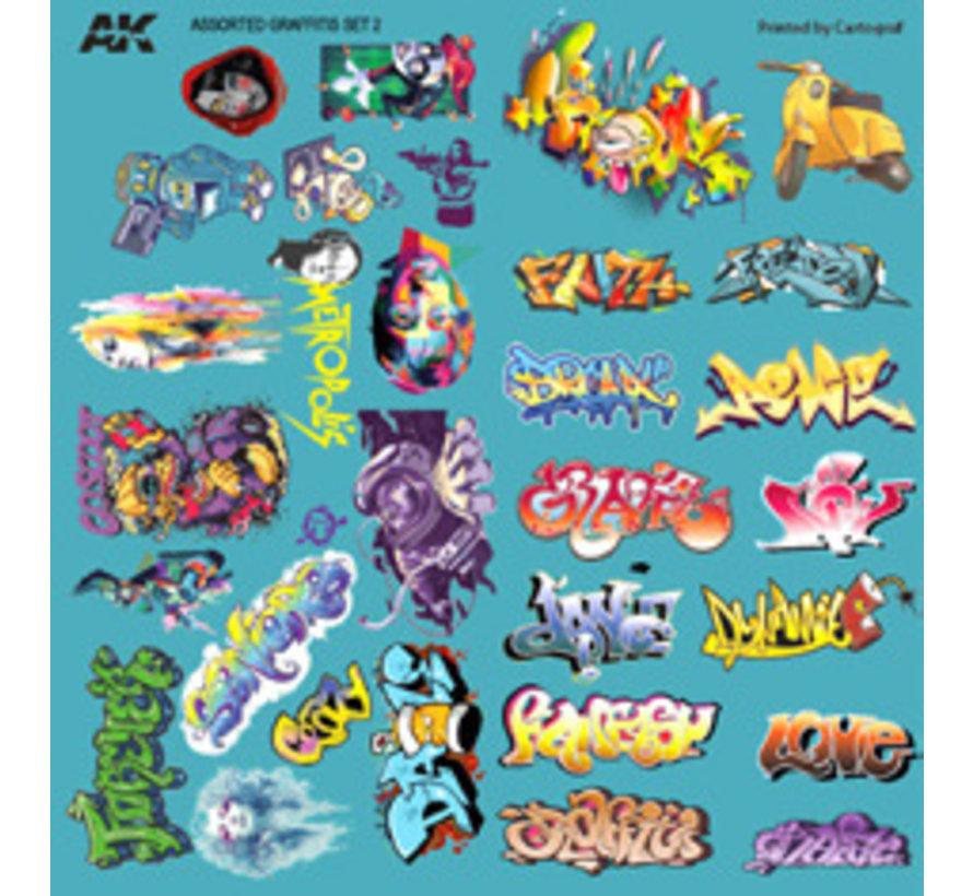 AK interactive Assorted Graffiti Decals