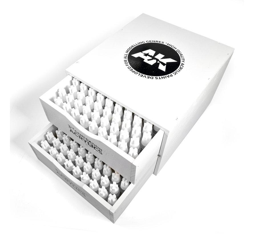 AK interactive Hand Crafted Wooden Special Deluxe Box - 230 kleuren - 17ml