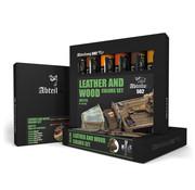 AK interactive Leather And Wood Set - 6 kleuren - 20ml - ABT315