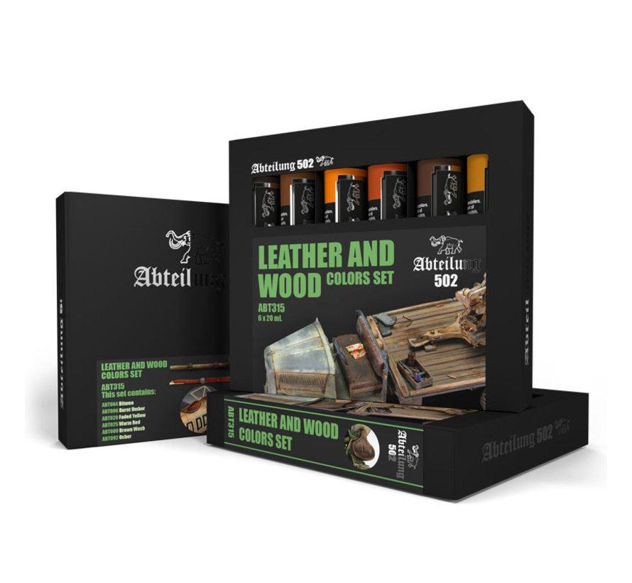 AK interactive Leather And Wood Set - 6 kleuren - 20ml