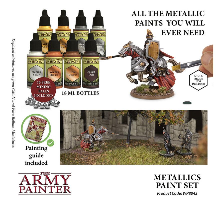 The Army Painter Warpaints Metallics Paint Set - 8x - 18ml - WP8043