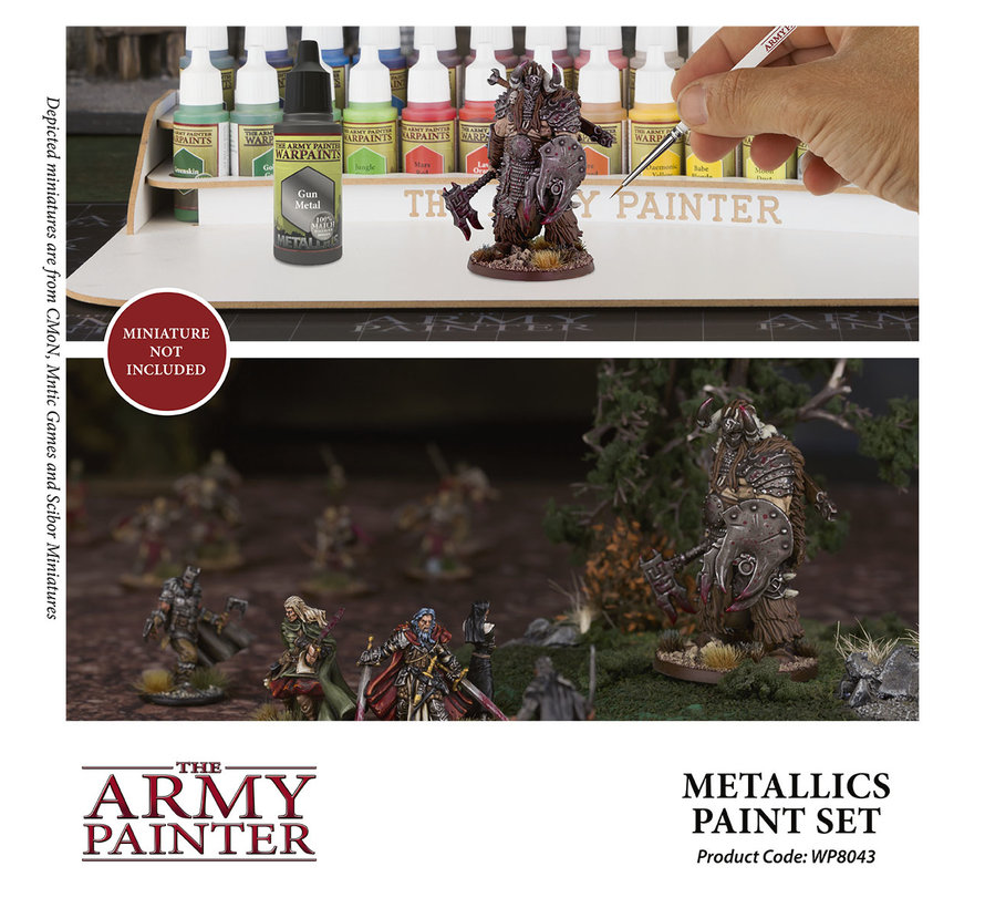 The Army Painter Warpaints Metallics Paint Set - 8 kleuren - 18ml - WP8043