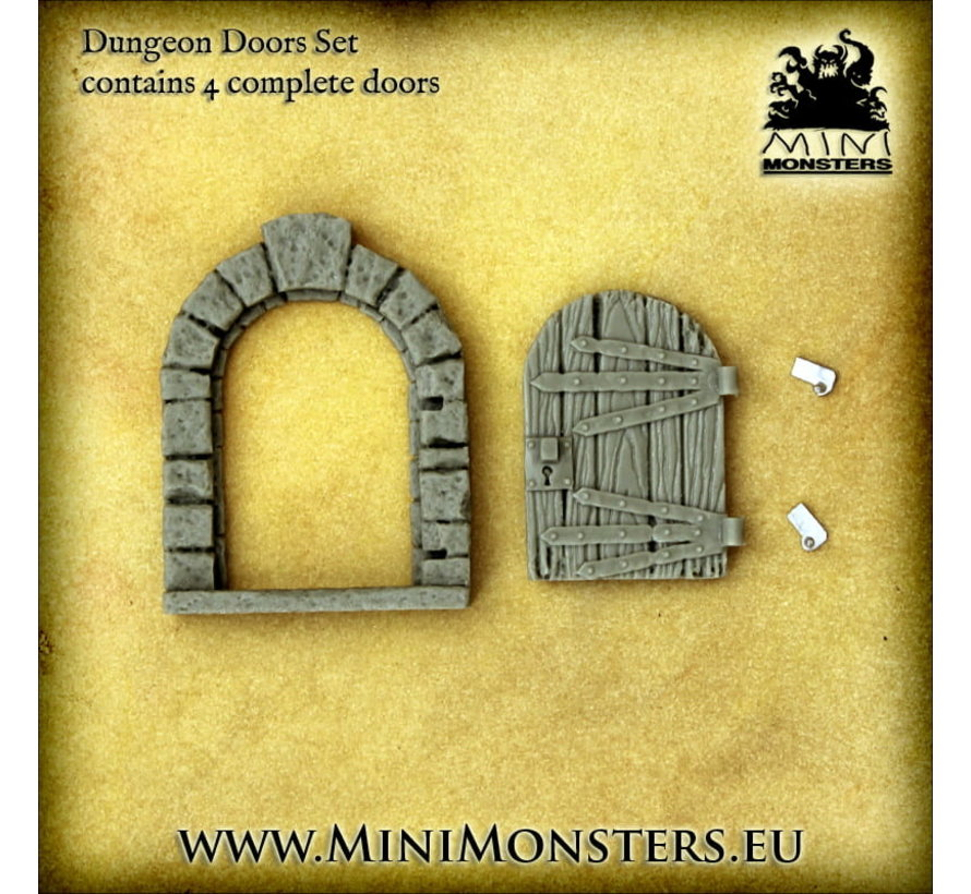 Mini Monsters Dungeon Doors - 4x - MM-0105