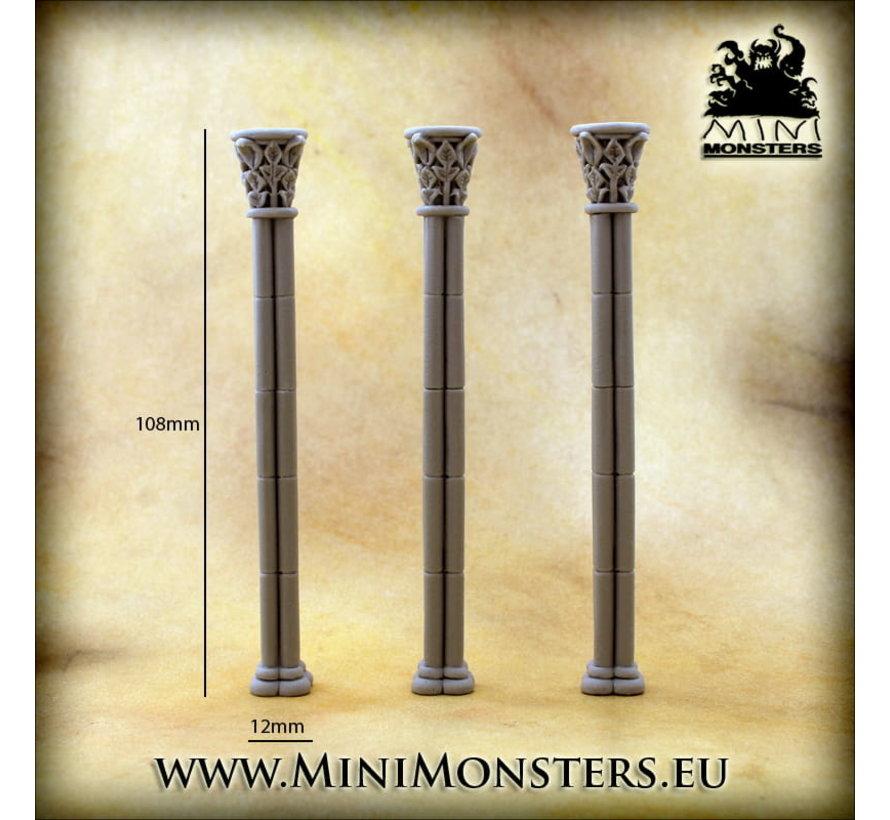 Mini Monsters Gothic Columns - 3x - MM-0103