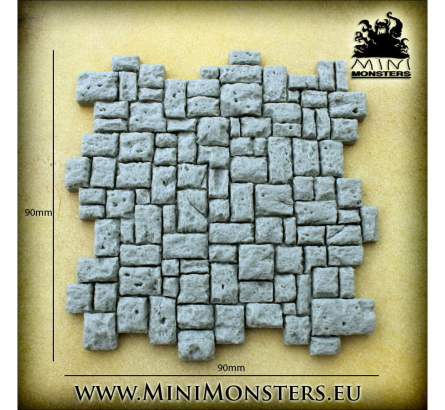 Mini Monsters Stone Plates - 4x - MM-0100
