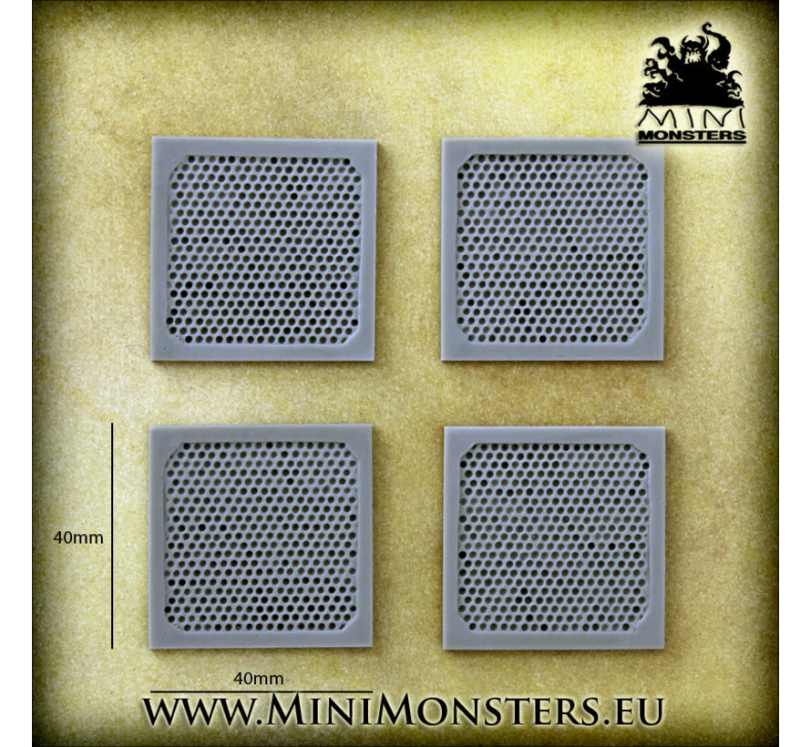 Mini Monsters Metal Platforms Set 2 - 4x - MM-0094