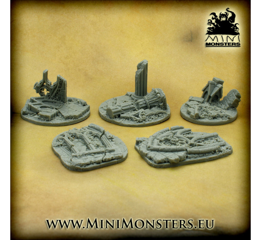 Mini Monsters Cathedral Rubble - 5x - MM-0088