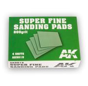 AK interactive Super Fine Sanding Pads 800 grit - 4x - AK9019