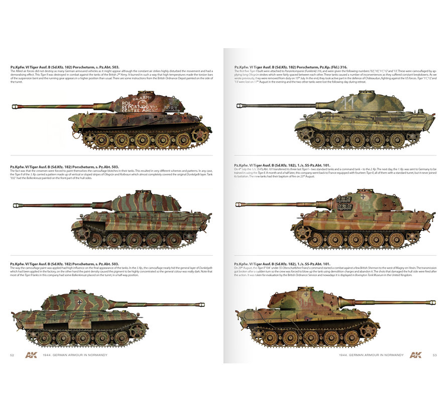 AK interactive 1944 German Armour In Normandy - Engels - 112pag - AK916