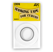 AK interactive Masking Tape For Curves 3 Mm - AK9124