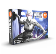 AK interactive White Colors Set - 6 kleuren - 17ml - AK11606
