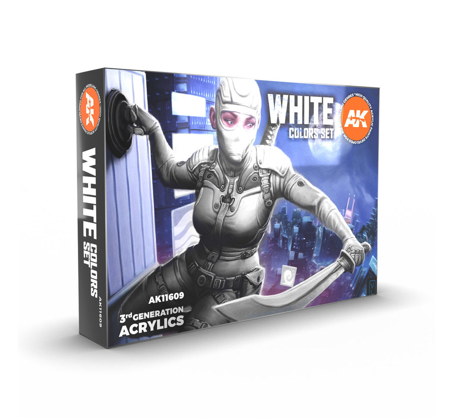AK interactive White Colors Set- 6 kleuren - 17 ml - AK11606