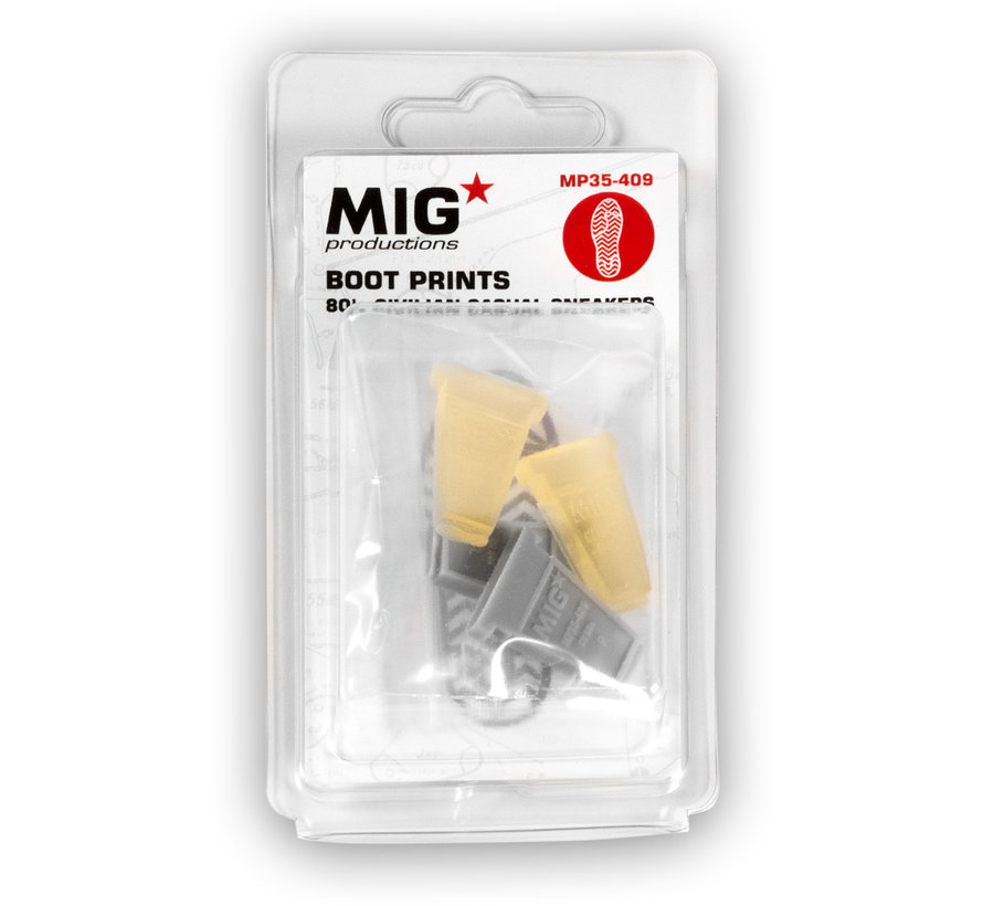 MIG productions Boot Prints  80's Civilian Casual Sneakers - MP35-409