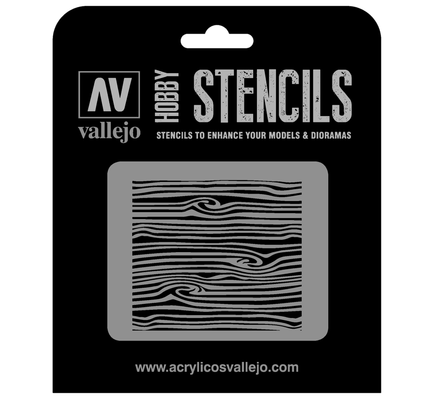 Vallejo Wood Texture Num. 2 - 1/35 - Texture Effects Airbrush Stencil - ST-TX007