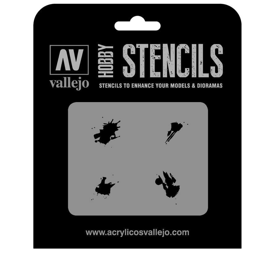 Vallejo Petrol Spills - 1/35 - Texture Effects Airbrush Stencil - ST-TX004