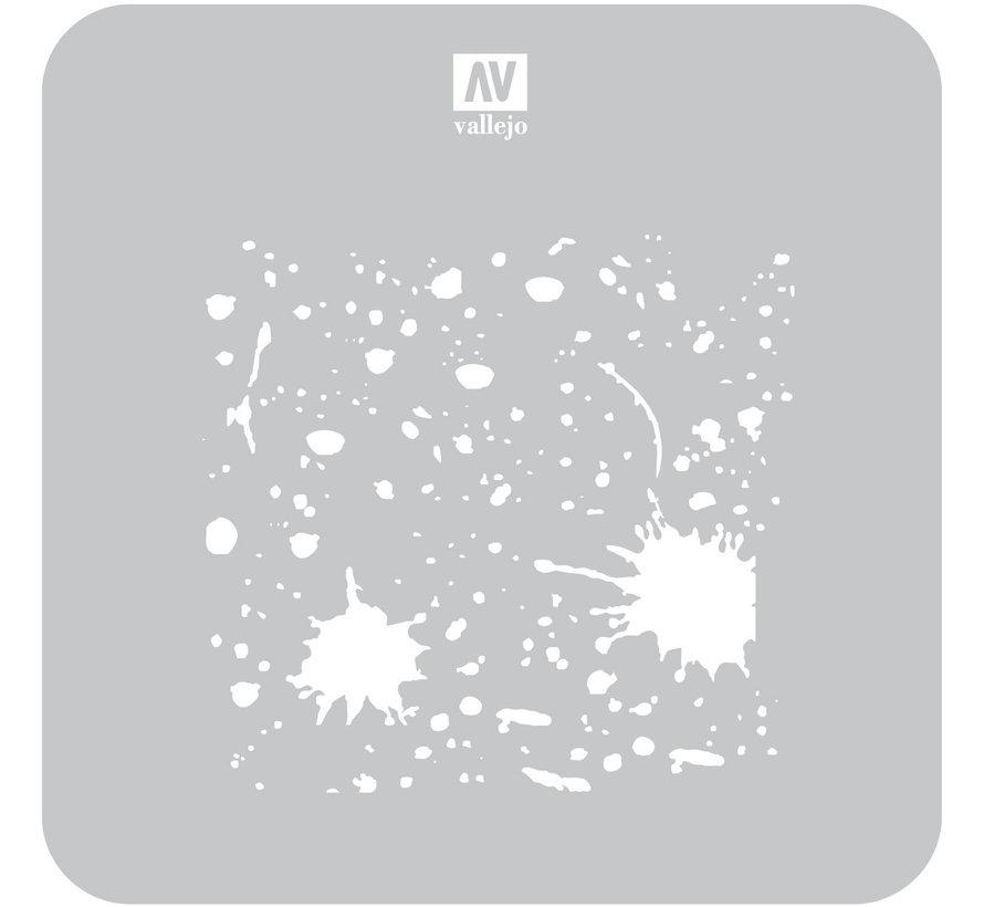 Vallejo Splash & Stains - 1/35 - Texture Effects Airbrush Stencil - ST-TX003