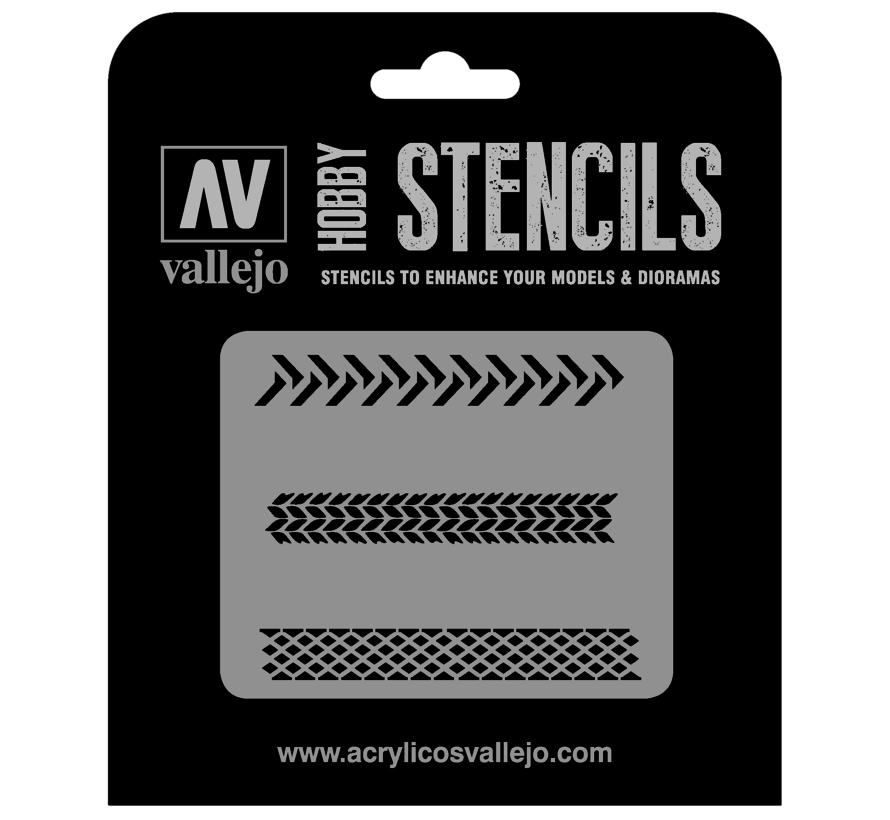 Vallejo Tyre Markings - 1/35 - Texture Effects Airbrush Stencil - ST-TX002