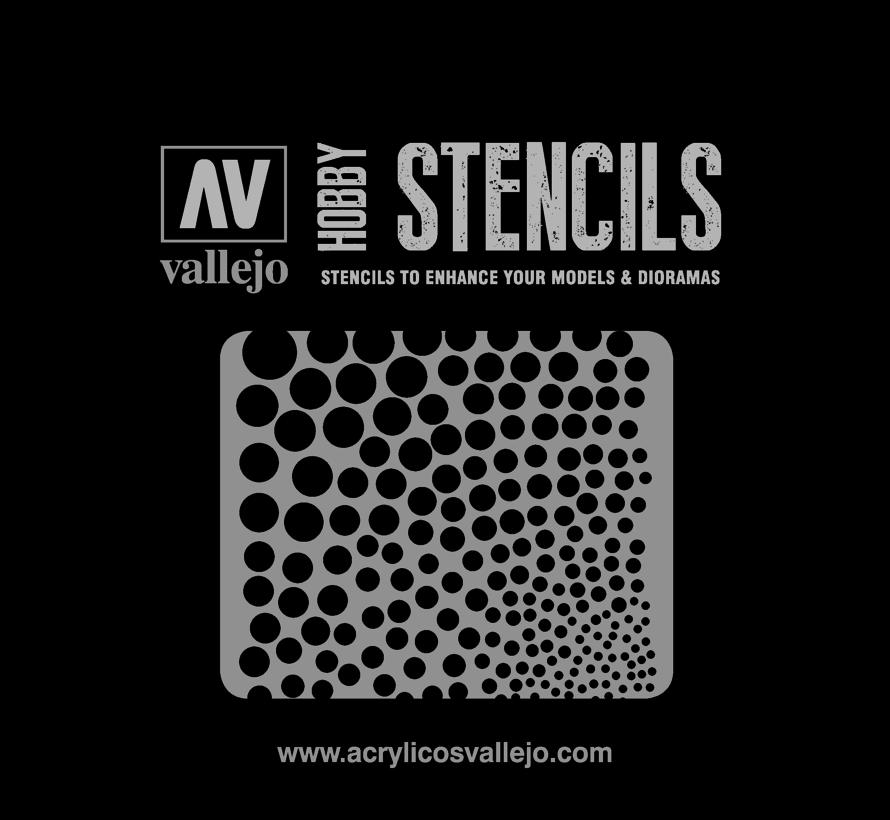 Vallejo Circle Textures - Sci-Fi & Fantasy Airbrush Stencil - ST-SF002