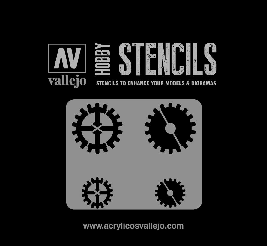 Vallejo Gear Markings - Sci-Fi & Fantasy Airbrush Stencil - ST-SF001