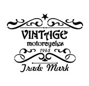 Vallejo Vintage Motorcycles Sign - 1/35 - Lettering & Signs Airbrush Stencil - ST-LET005