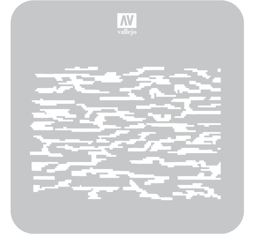 Vallejo Pixelated Modern Camo - 1/32, 1/35 - Camouflages Airbrush Stencil - ST-CAM004