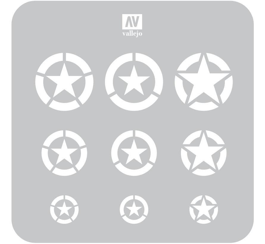 Vallejo USAF-markeringen - 1/32, 1/48, 1/72 - Luchtmarkeringen Airbrush-sjabloon - ST-AIR004