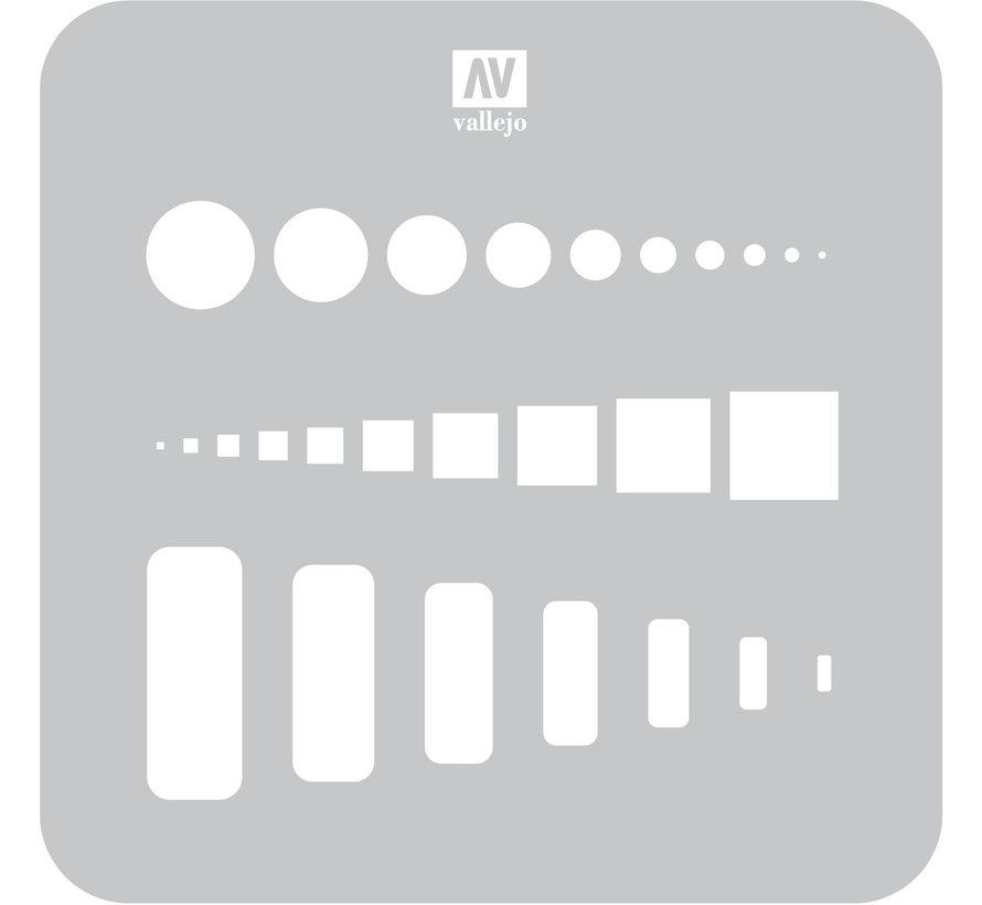 Vallejo Access Trap Doors - 1/32, 1/48, 1/72 - Air Markings Airbrush Stencil - ST-AIR003