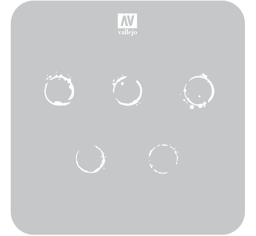 Vallejo Drum Oil Markings - 1/35 - AFV Markings Airbrush Stencil - ST-AFV002