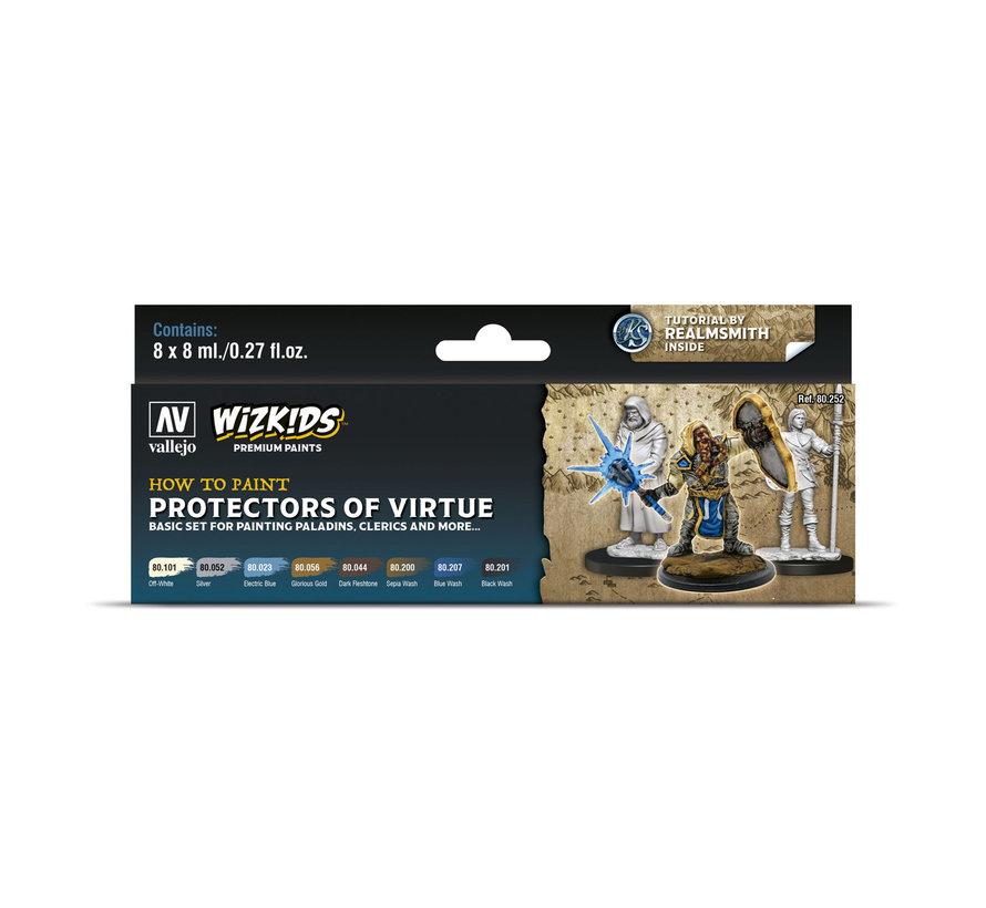 Vallejo Protectors of Virtue - Wizkids Premium Paints - 8 kleuren - 8ml - 80252